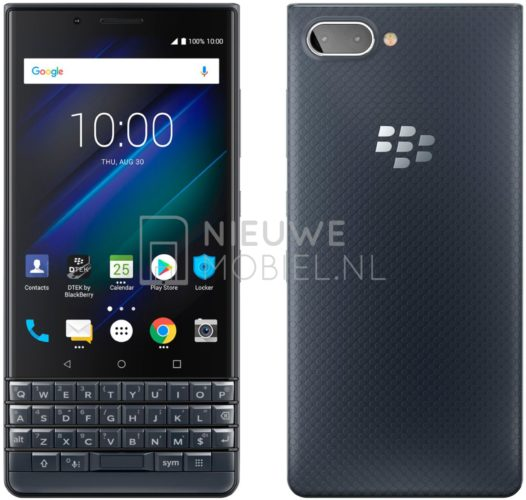 BlackBerry KEY2 LE показали на нових рендерах