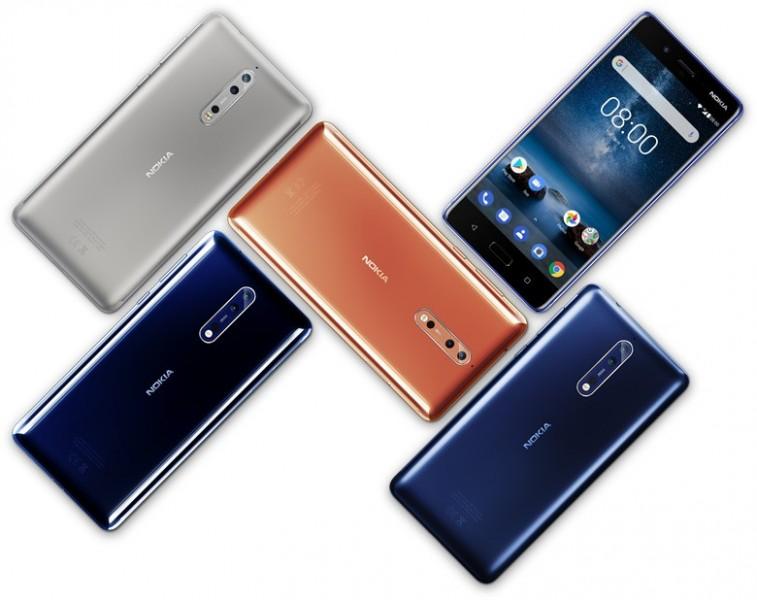 На Geekbench з'явилися тести Nokia 8 на ОС Android 9.0 Pie