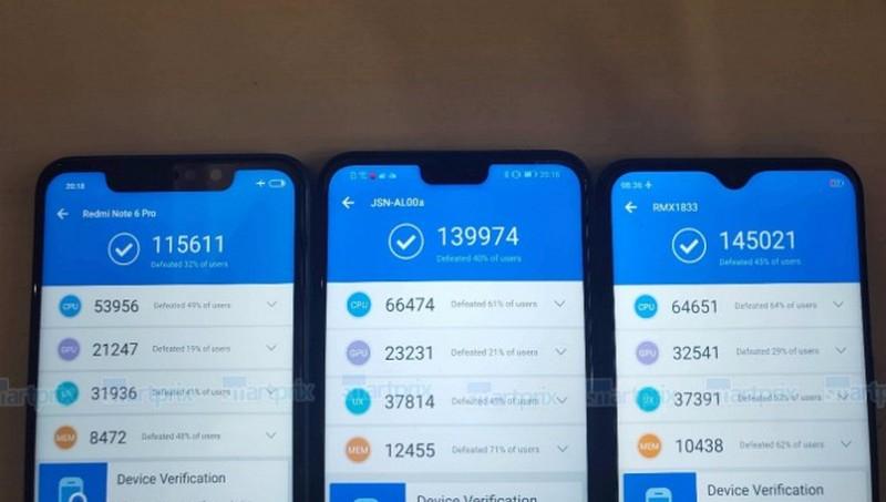 MediaTek Helio P70 обходить по продуктивності платформи Kirin 710 і Snapdragon 636