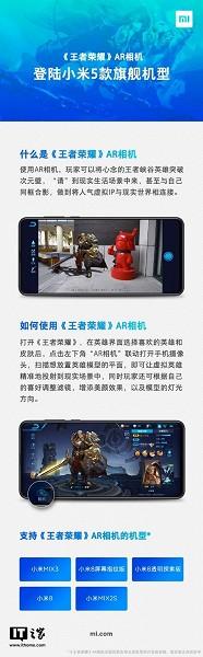 П'ять смартфонів Xiaomi отримали додаток доповненої реальності King of Glory AR Camera