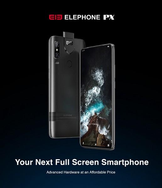 Анонс Elephone PX: безрамковий смартфон із висувною камерою за 249 доларів