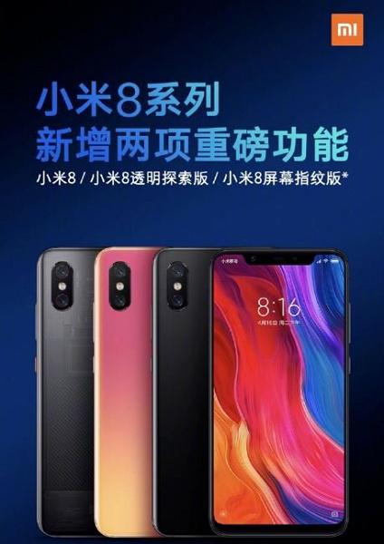Всі смартфони лінійки Xiaomi Mi 8 отримали вражаючу продуктивність камери