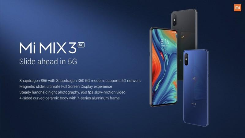 Представлений Xiaomi Mi Mix 3 5G: передовий смартфон з підтримкою мереж п'ятого покоління