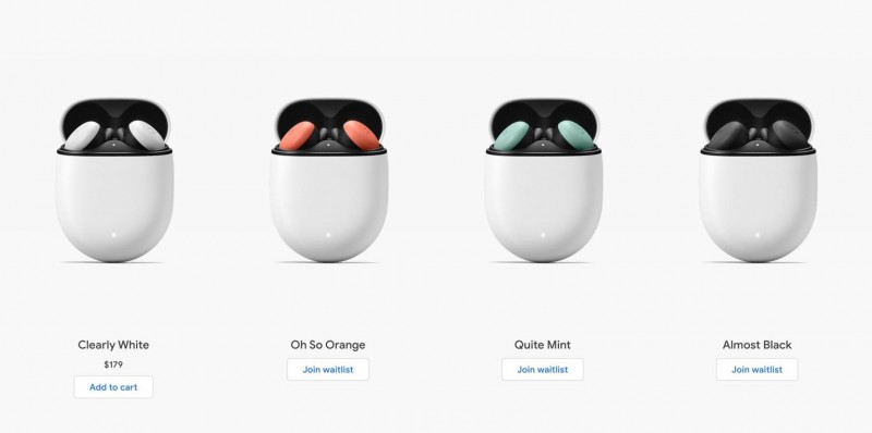 У продажу з'явиться чотири кольори навушників.Кейс у всіх буде білим