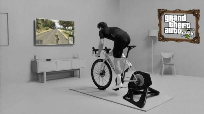 Гра GTA V дозволяє кататися по Лос-Сантосу за допомогою велотренажера