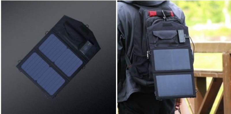 Xiaomi випустила портативну сонячну панель, за допомогою якої можна зарядити смартфон будь-де
