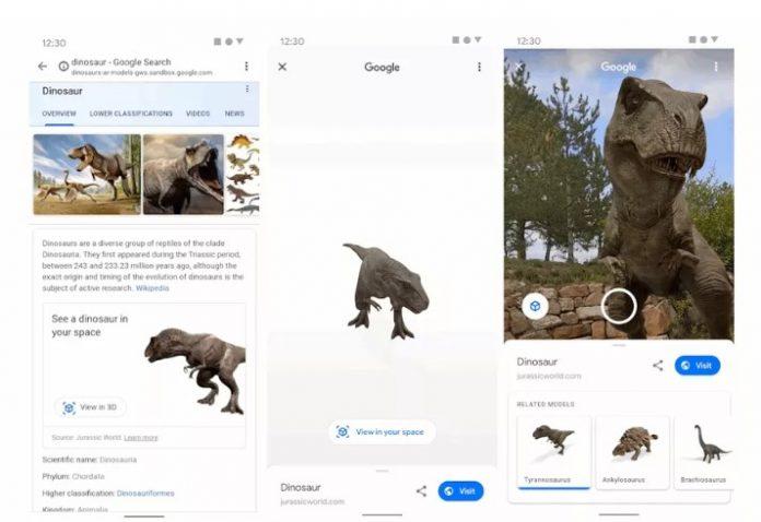 Google зробила динозаврів «реальними»