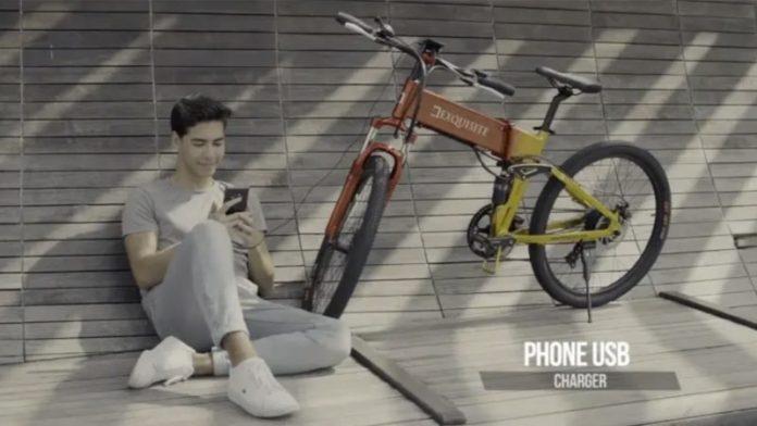 Випустили перший в світі гірський велосипед DX eBike, який заряджається при їзді