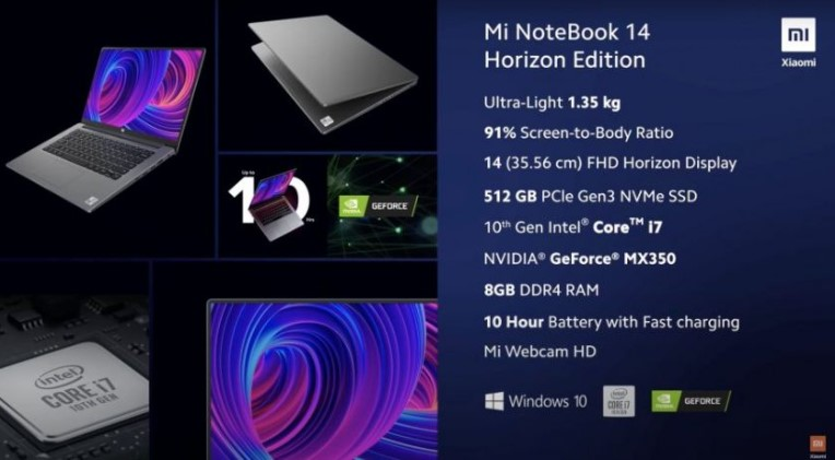 Xiaomi представила ноутбуки Mi NoteBook 14 і NoteBook 14 Horizon Edition