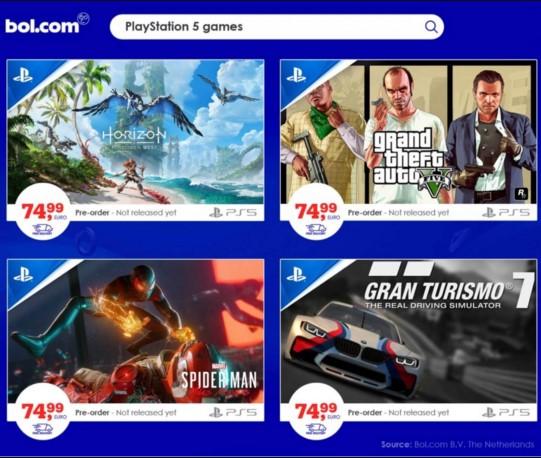 Ігри для нової консолі Playstation 5 подорожчають на 25%