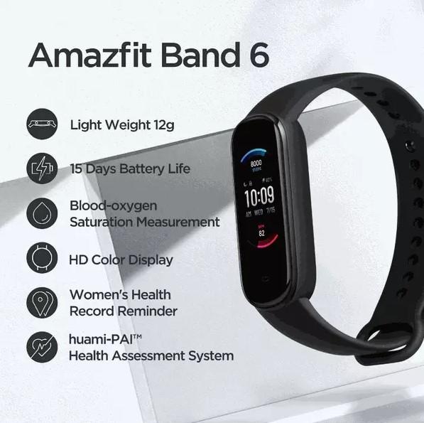 Розкрито особливості майбутнього смарт-годинника Xiaomi Amazfit Band 6