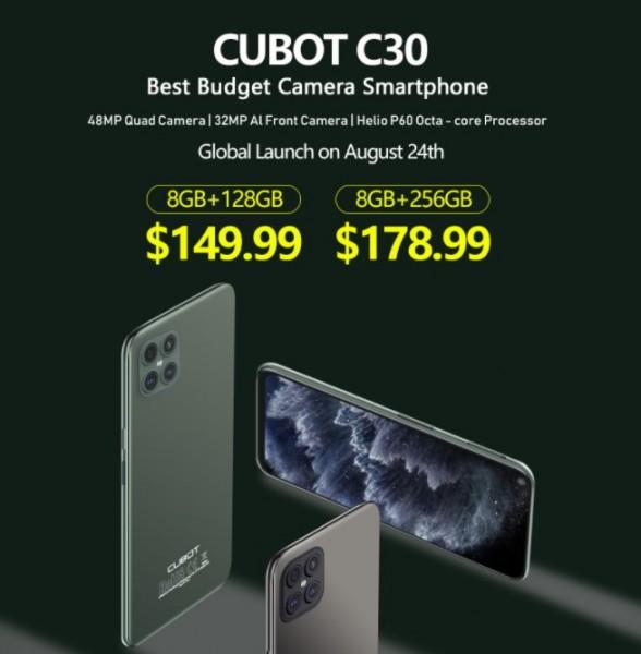 Квадрокамера, 6,44-дюймовый дисплей и 8 ГБ ОЗУ за $150: состоялся релиз смартфона Cubot C30