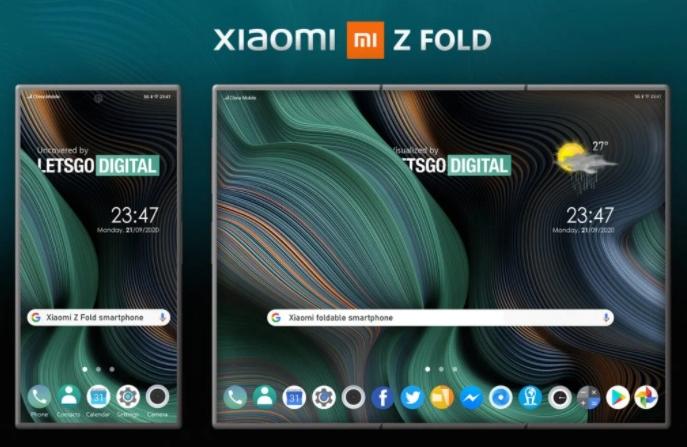 Компания Xiaomi запатентовала новый складной смартфон Z Fold: в сети появились первые фото