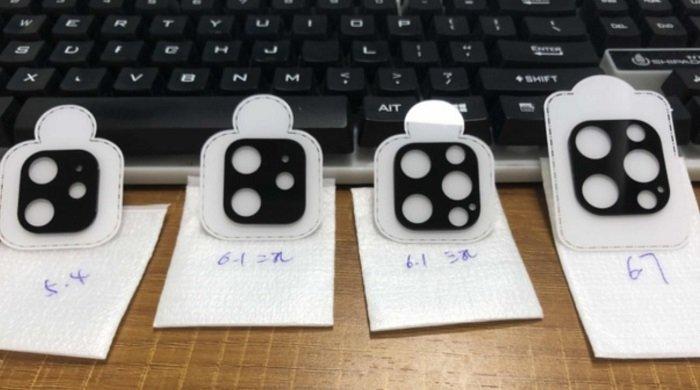 Отличия разных версий iPhone 12 на одном фото