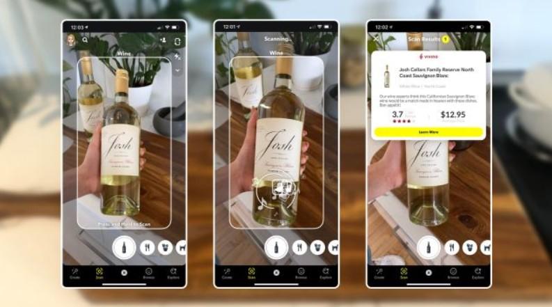 В Snapchat додали функцію для розпізнавання дати виготовлення, складу їжі і напоїв