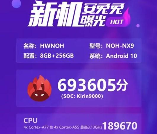 Huawei Mate 40 Pro набрав в AnTuTu значні 693 000 балів і перевершив Snapdragon 865