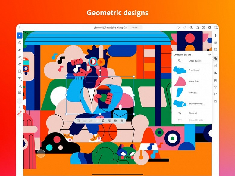 Adobe Illustrator вийшов для iPad
