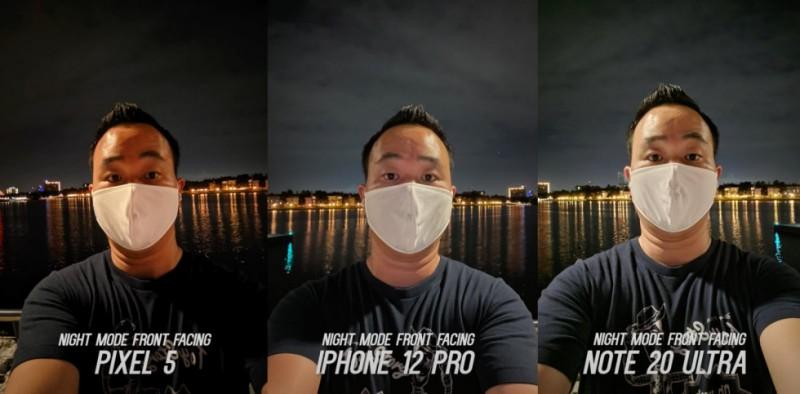 iPhone 12 Pro порівняли з Google Pixel 5 і Samsung Galaxy Note 20 Ultra у нічній зйомці