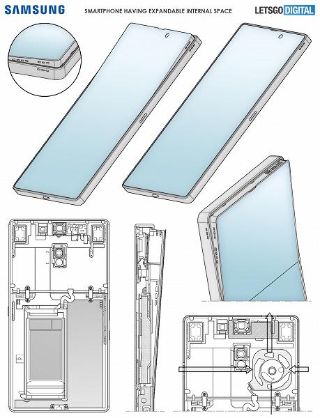 Samsung працює над смартфоном з гнучким екраном, який випадає з корпусу: вже є перші фотографії