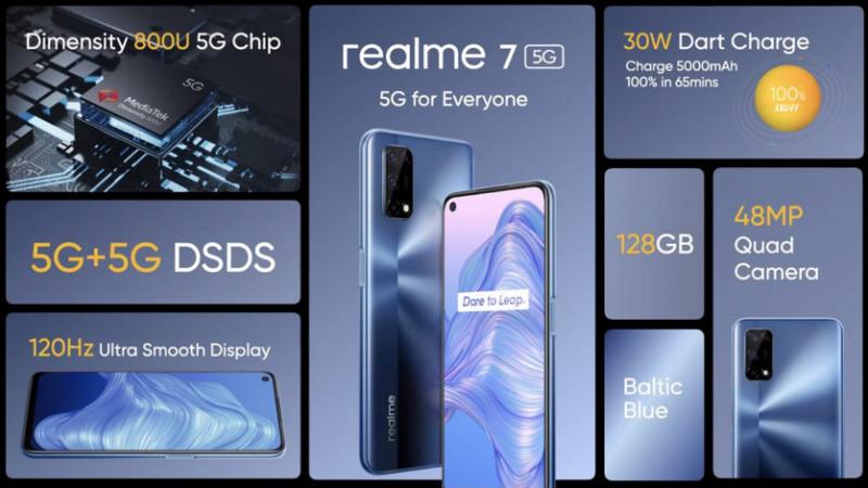 realme 7 5G: 120-герцовий екран і ємний акумулятор на 5000 мАг