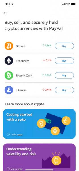 PayPal почав підтримувати криптовалюту