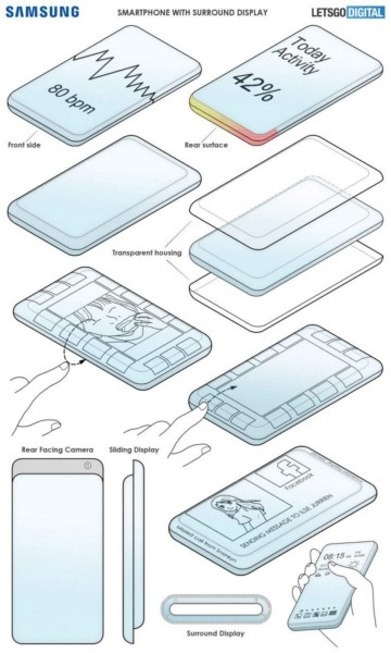 Samsung розробила смартфон-слайдер з унікальним дизайном