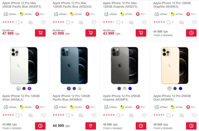 Офіційні ритейлери компанії Apple продають iPhone 12 Pro дорожче за Pro Max