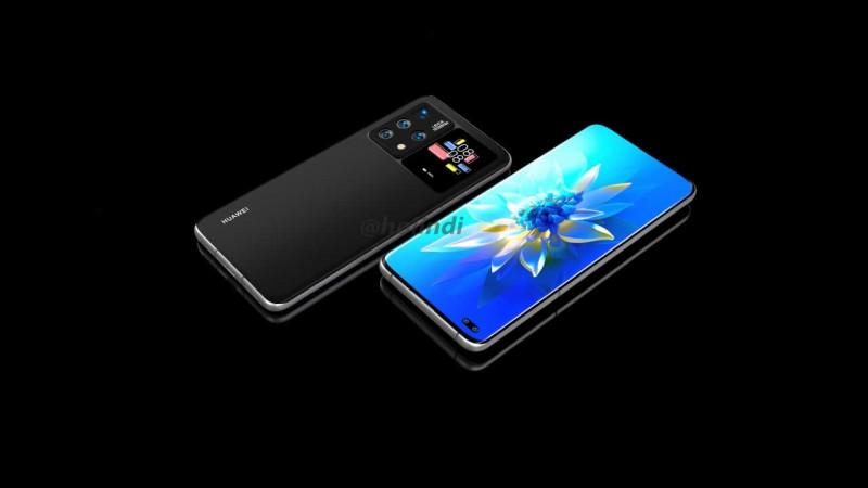 Показали перші зображення смартфона Huawei з додатковим екраном